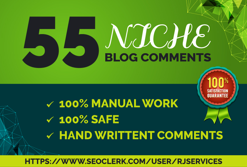 I will create manually 55 Niche Blog Comments