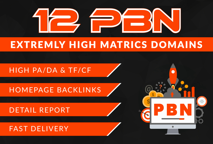 I will create high PA/DA TF/CF Homepage PBN backlinks