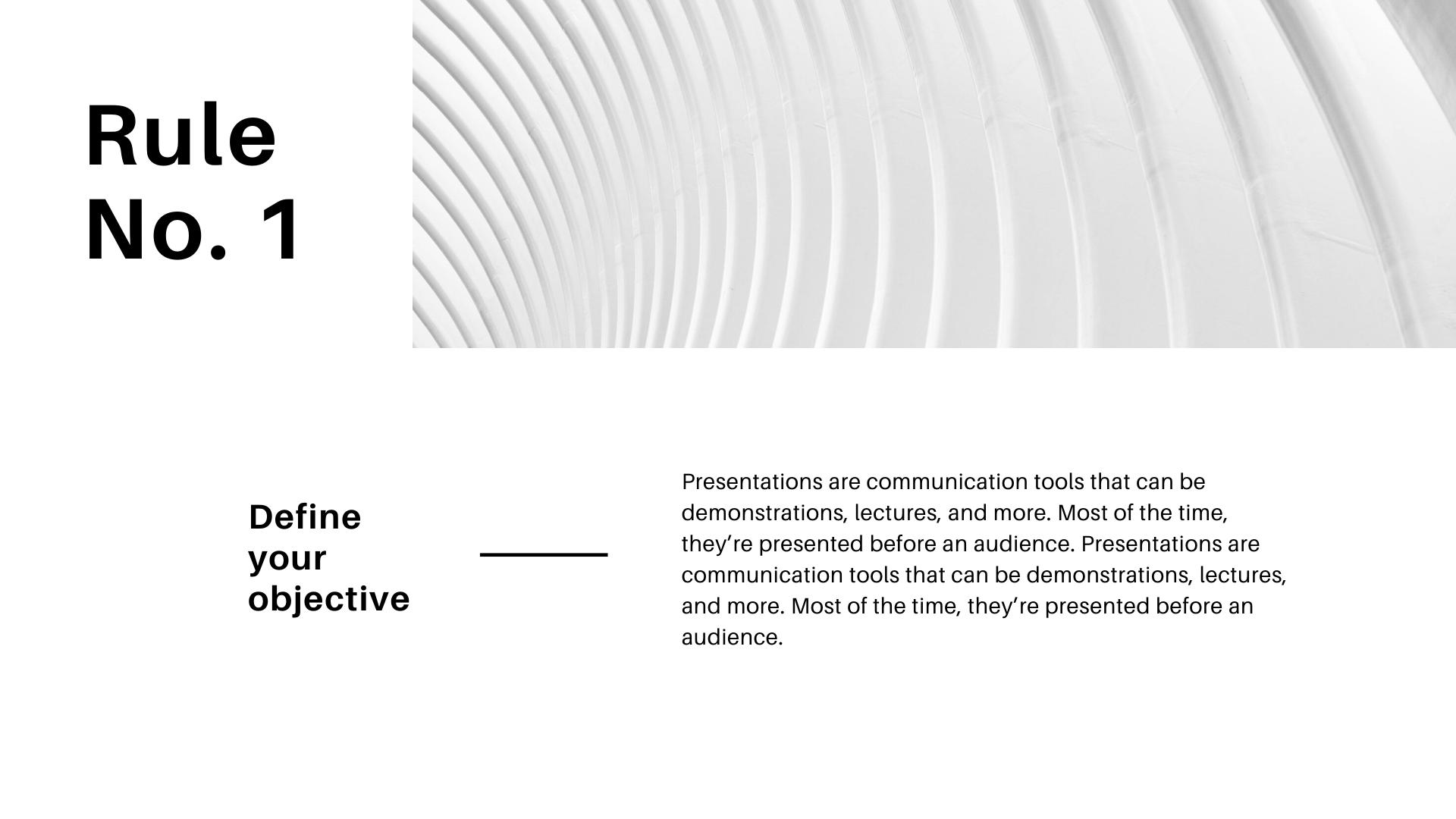 basic black and white Presentation templates