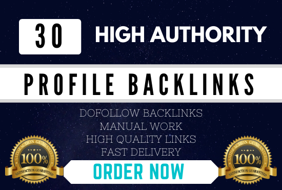 Manually Create 30 pr9 da 90 High Authority Do-follow Profile Backlinks Seo Service Optimization
