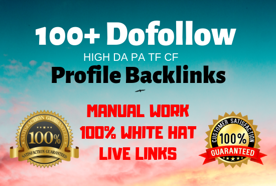 Will manually submit 100 Do-follow high authority profile backlinks