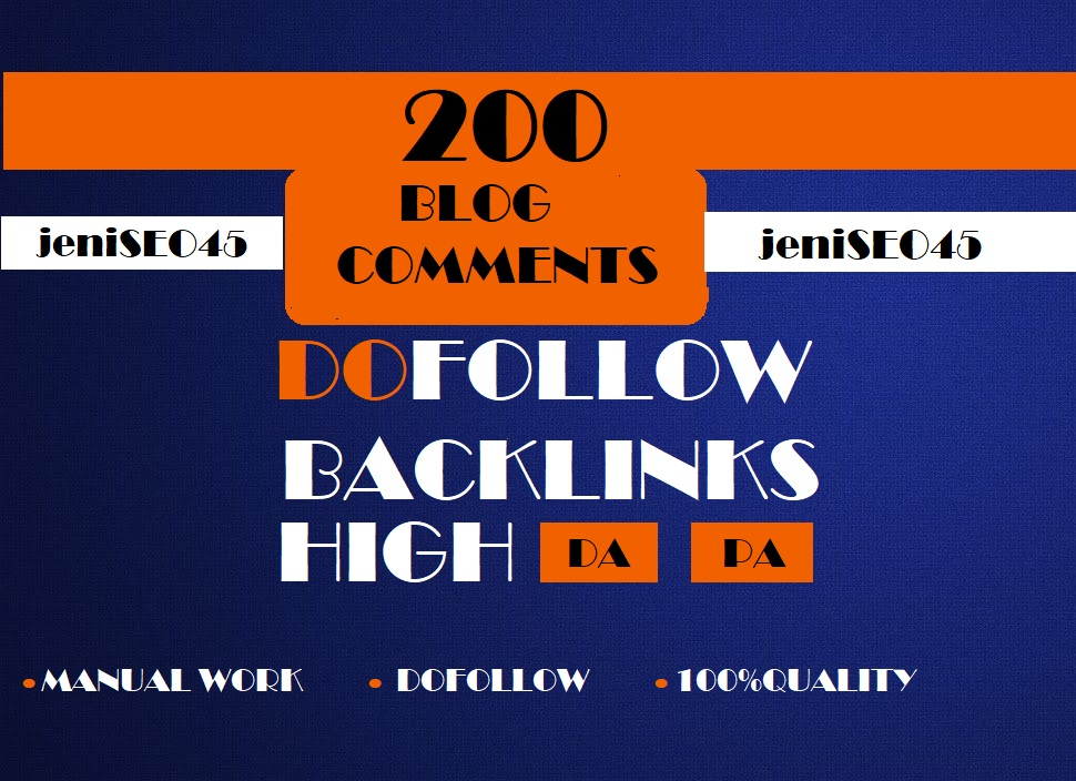 I will do 200 blog comments high DAPA backlinks