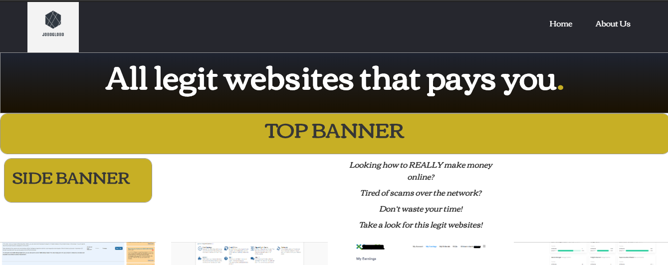 Promote your referral links,  ads or banners on Joboglobo