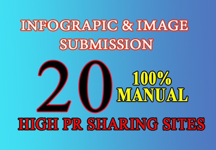 I will submit your image or infographic to 20 image submission or photo sharing sites