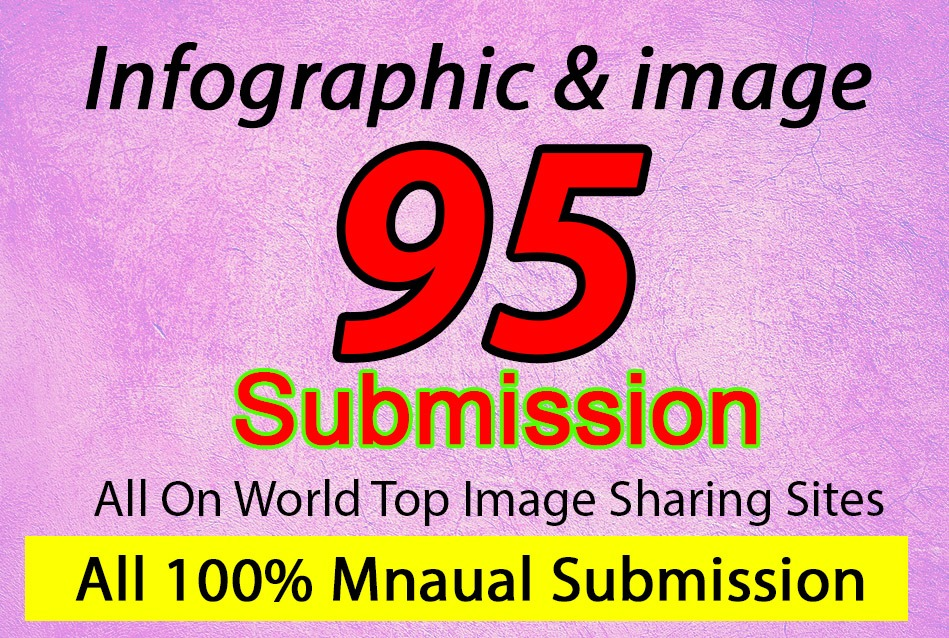 I will do manually infographic and image submission on world top 95 sites