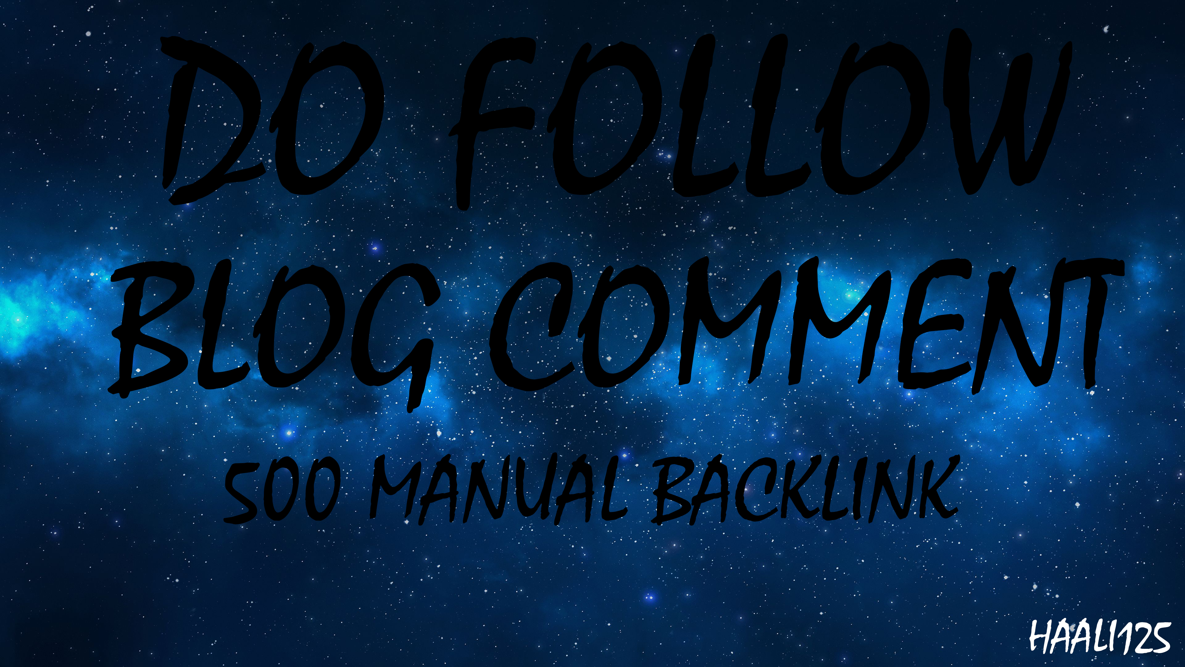 I will 500 manual dofollow blog comment backlinks