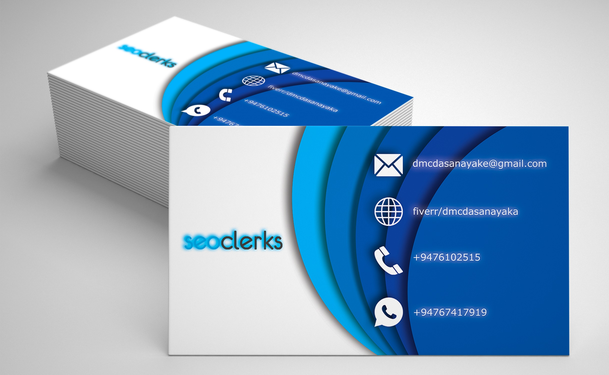I will do professional double sided business card