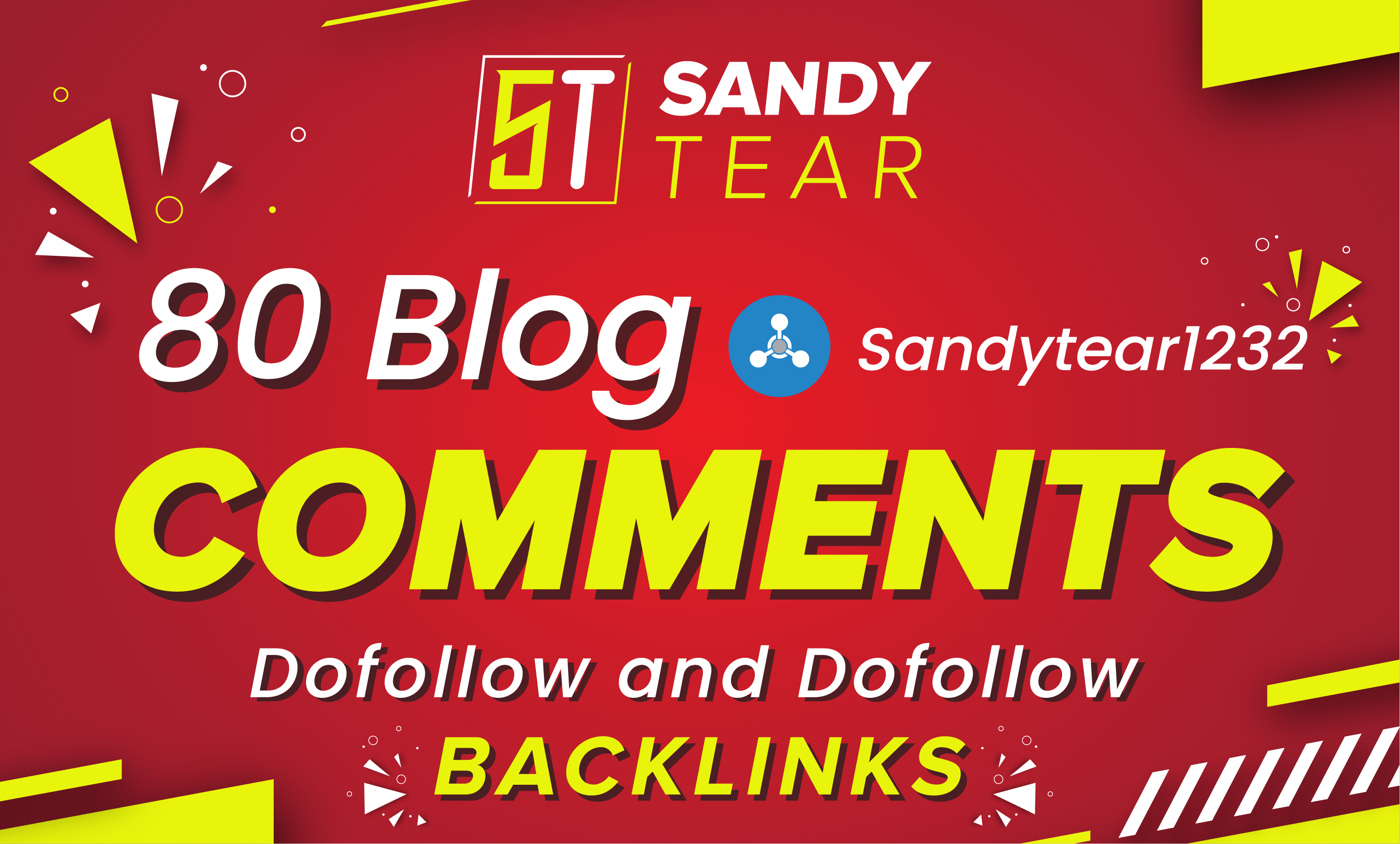 I will 80 unique domains SEO service blog comments backlinks
