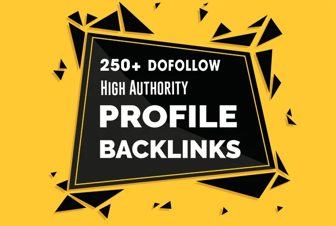 I will Create 250 High Quality Profile Backlinks