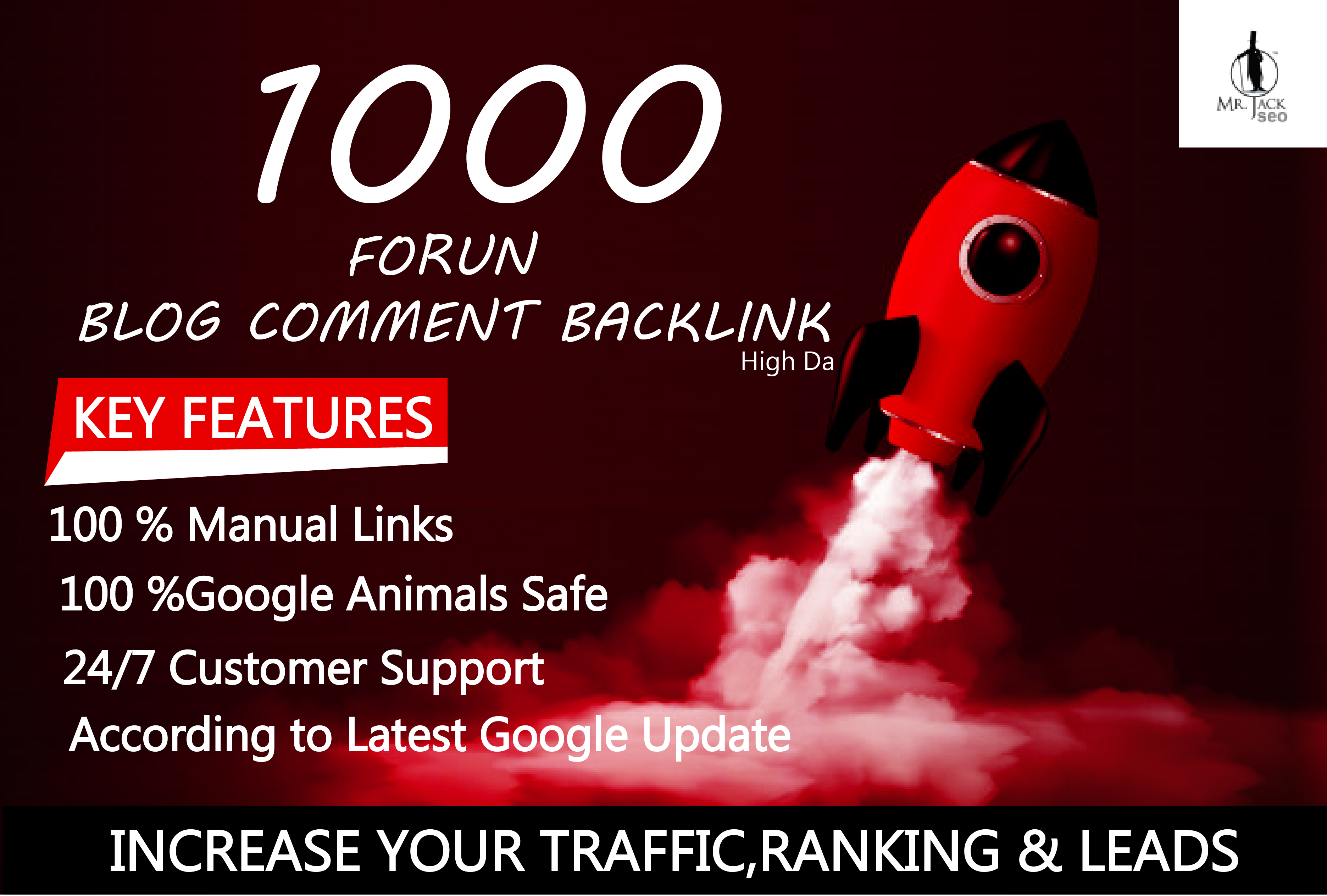 i will provide you 1000 blog comment forum backlink domain