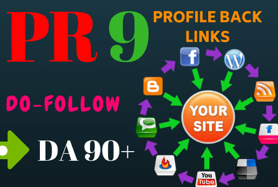 manually create 5 pr9 da 100 dofollow profile backlinks for page 1 rankings in just days