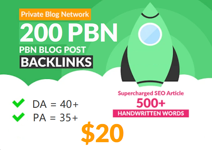 200 Unique PBN Post in Unique 200 domain Pa 35+ Da 40+