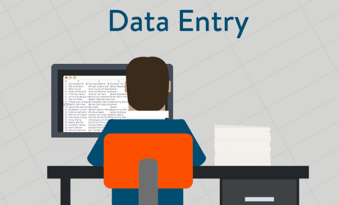 Get any kind of data entry work