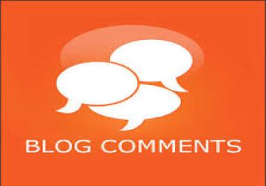 I will do 50 blog comment services on high DA websites.