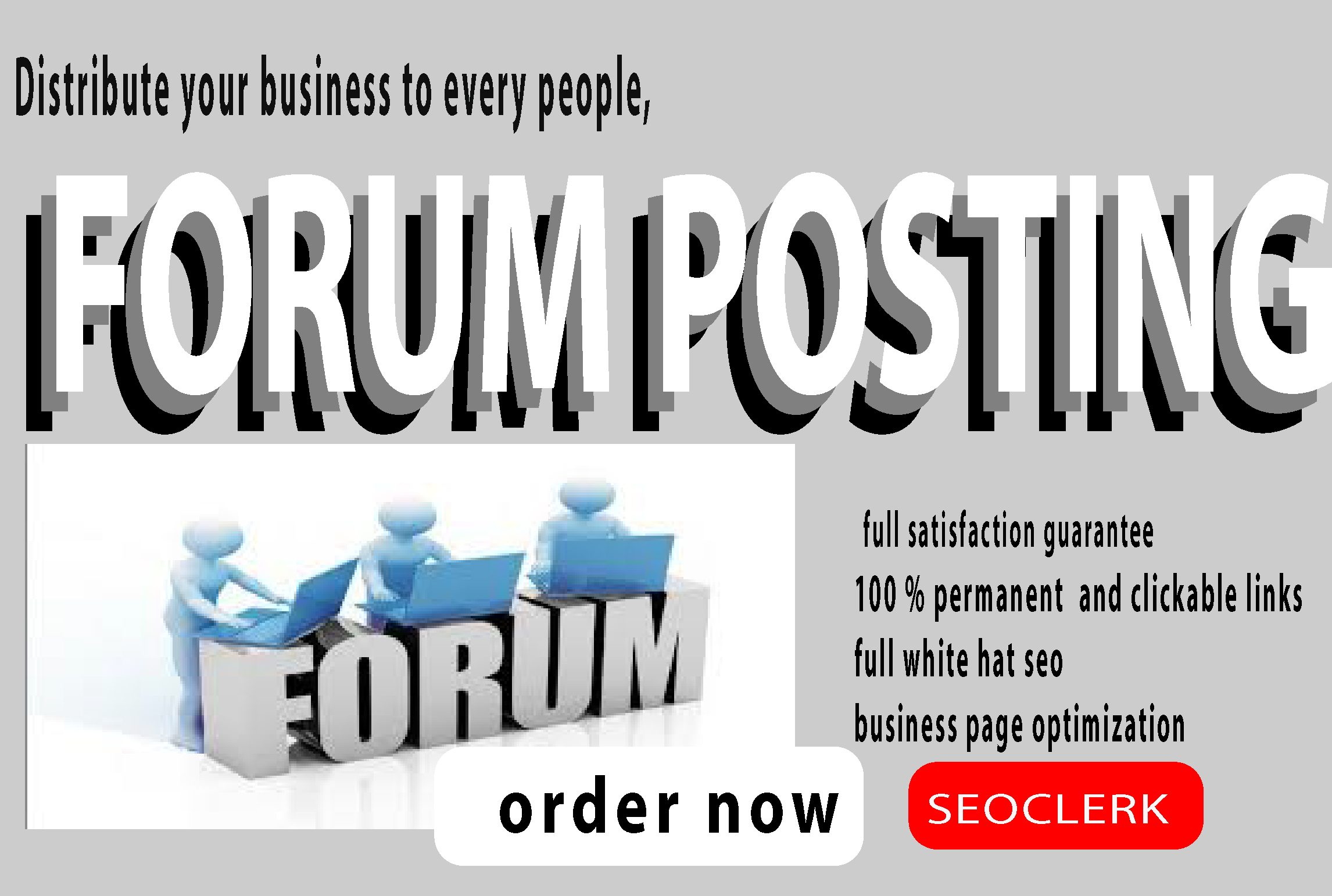 I will do 100 forum posting in top forum posting site for your website