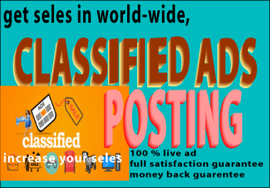 i will do 70 classified ad posting in top rated site
