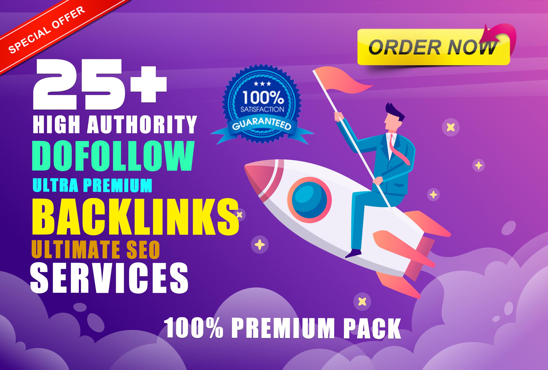 Manually Do 25 Pr9 DA 90+ Dofollow High Authority Backlinks