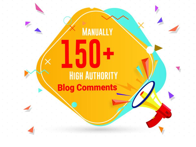 provide 150 blog comments high da high pa backlinks