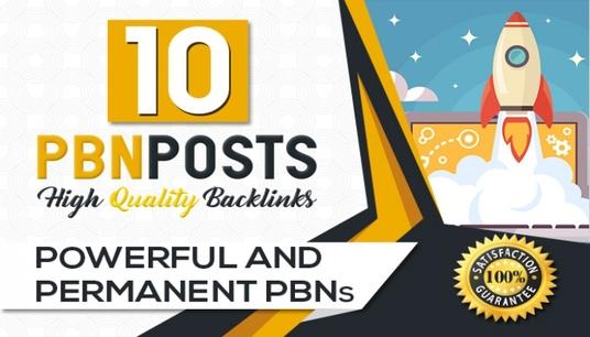 10 high da pa pbn homepage quality backlinks