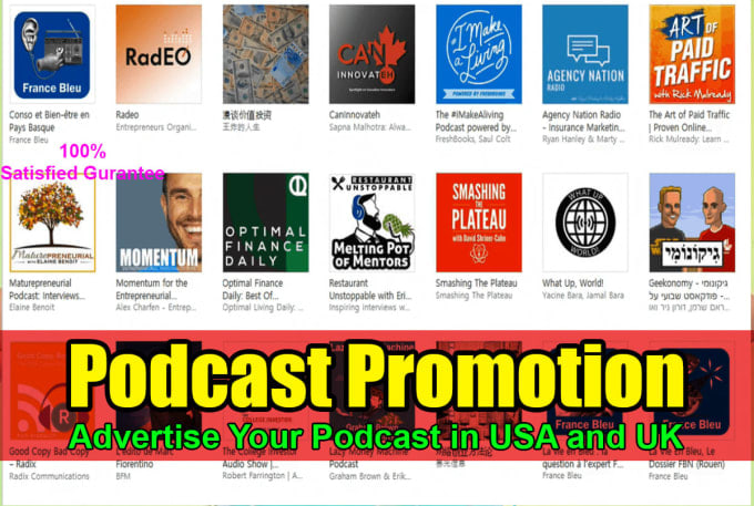 I will provide podcast promotion with download and popularity