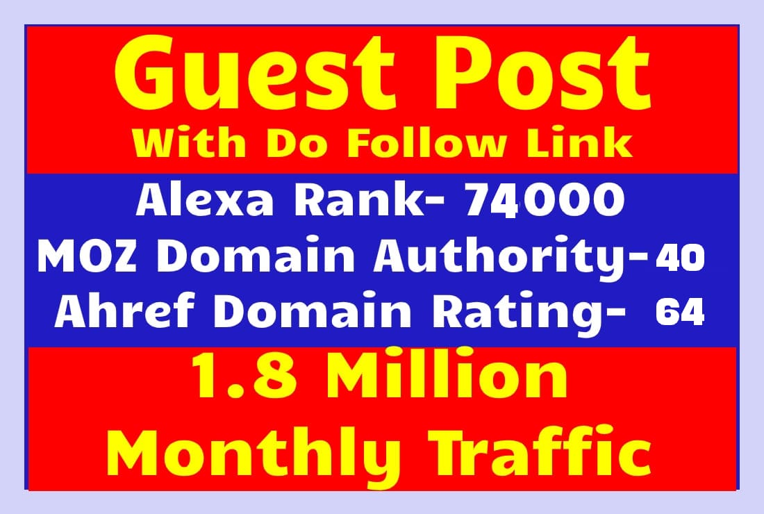 I will do a guest post in authority ecommerce and content website