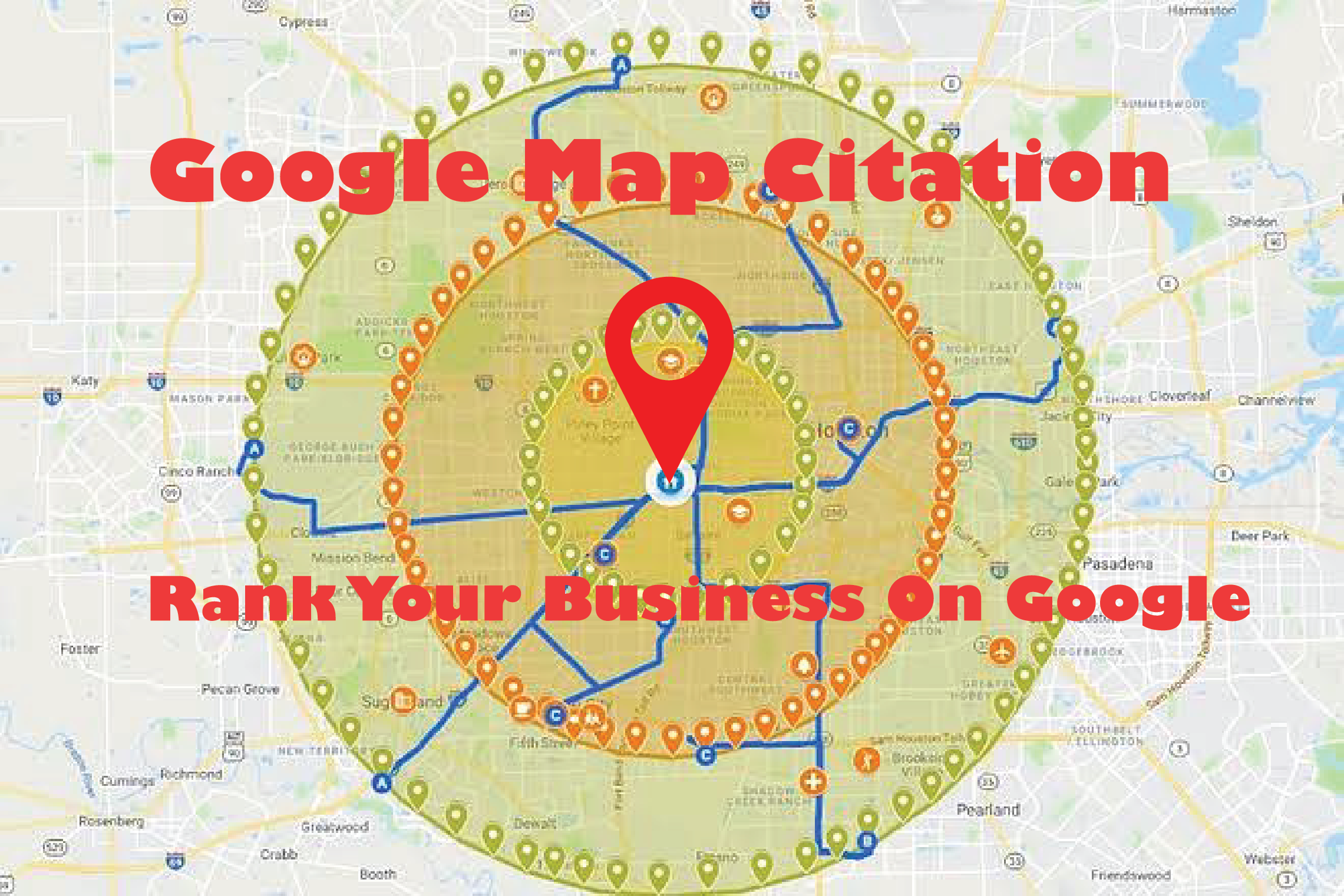 I will create 500 google point map citations for local SEO