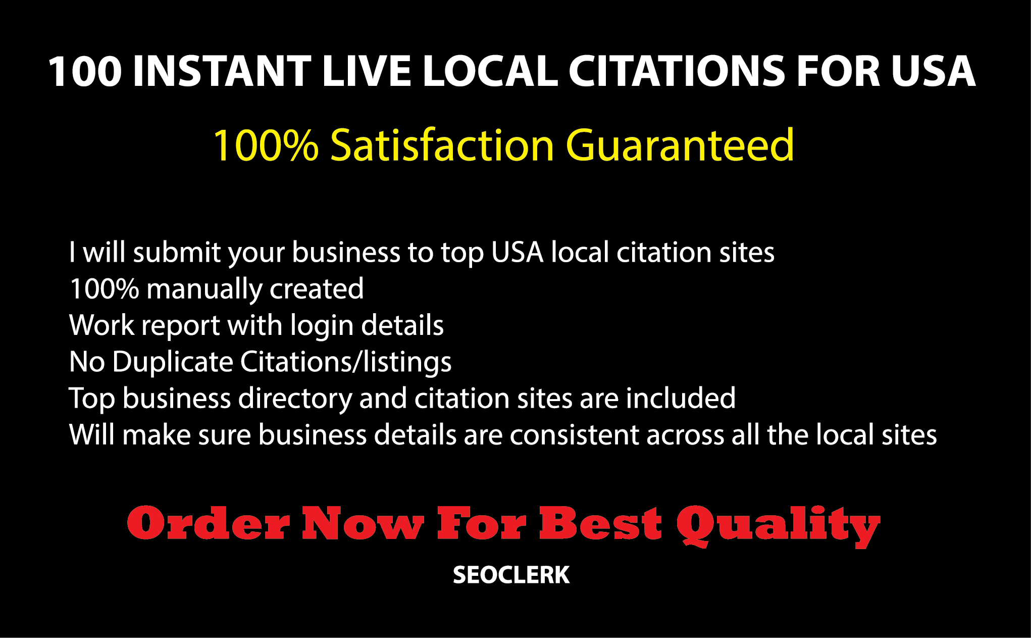 100 High DA Instant Approval Local Listing For USA