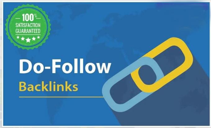 Do 60 manual high authority dofollow backlinks