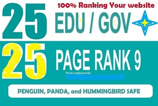 Do permanent 50 USA education site and pr9 backlinks