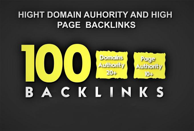 Do high domain authority links,  high quality backlinks