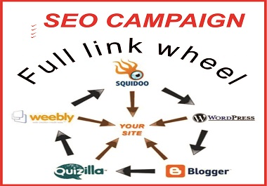I will expertly do SEO campaign for your site to get Google ranking from Full link wheel