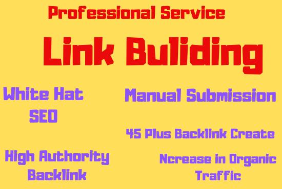 I will do Create 100 plus high da authority seo link building, backlink