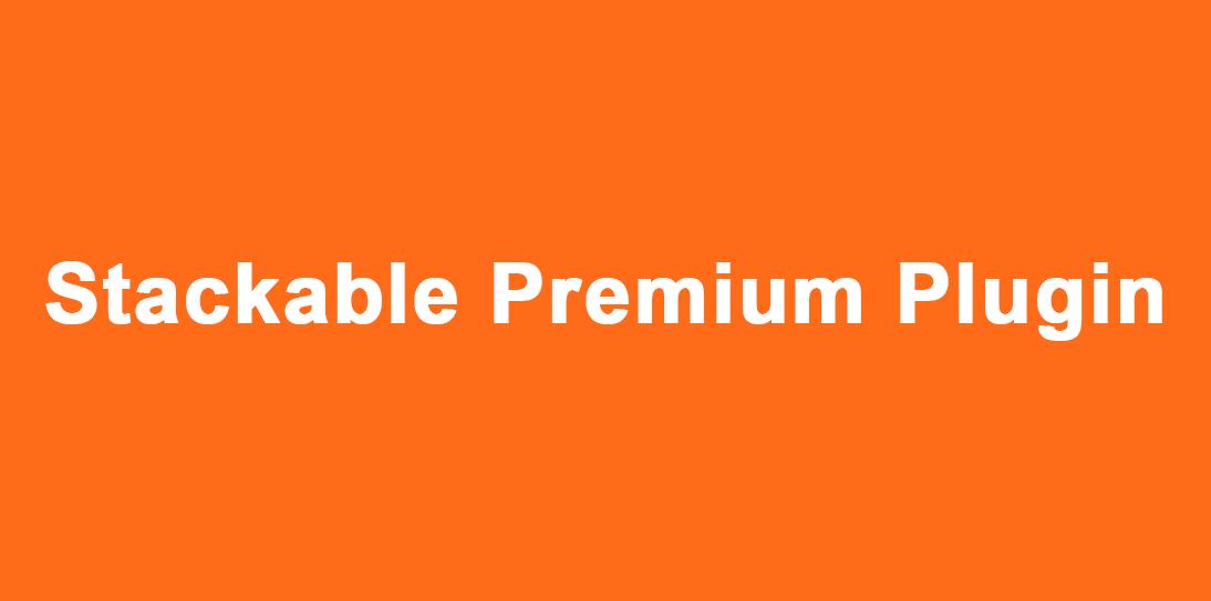 Install Stackable Premium WordPress Plugin on your website