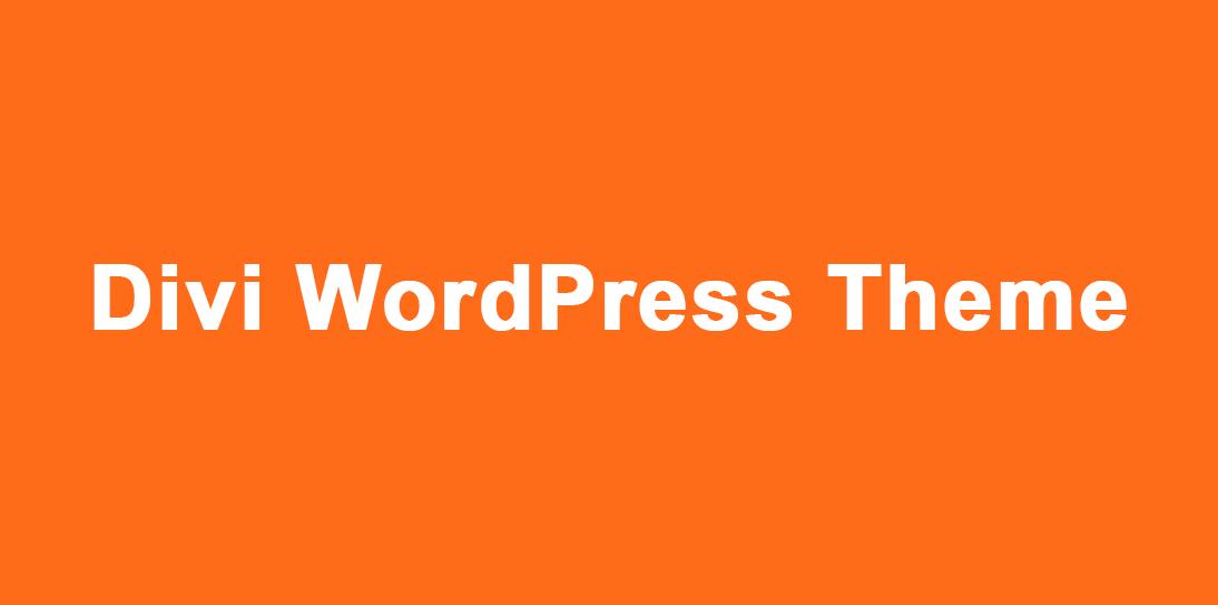 Install Divi WordPress Theme on your website