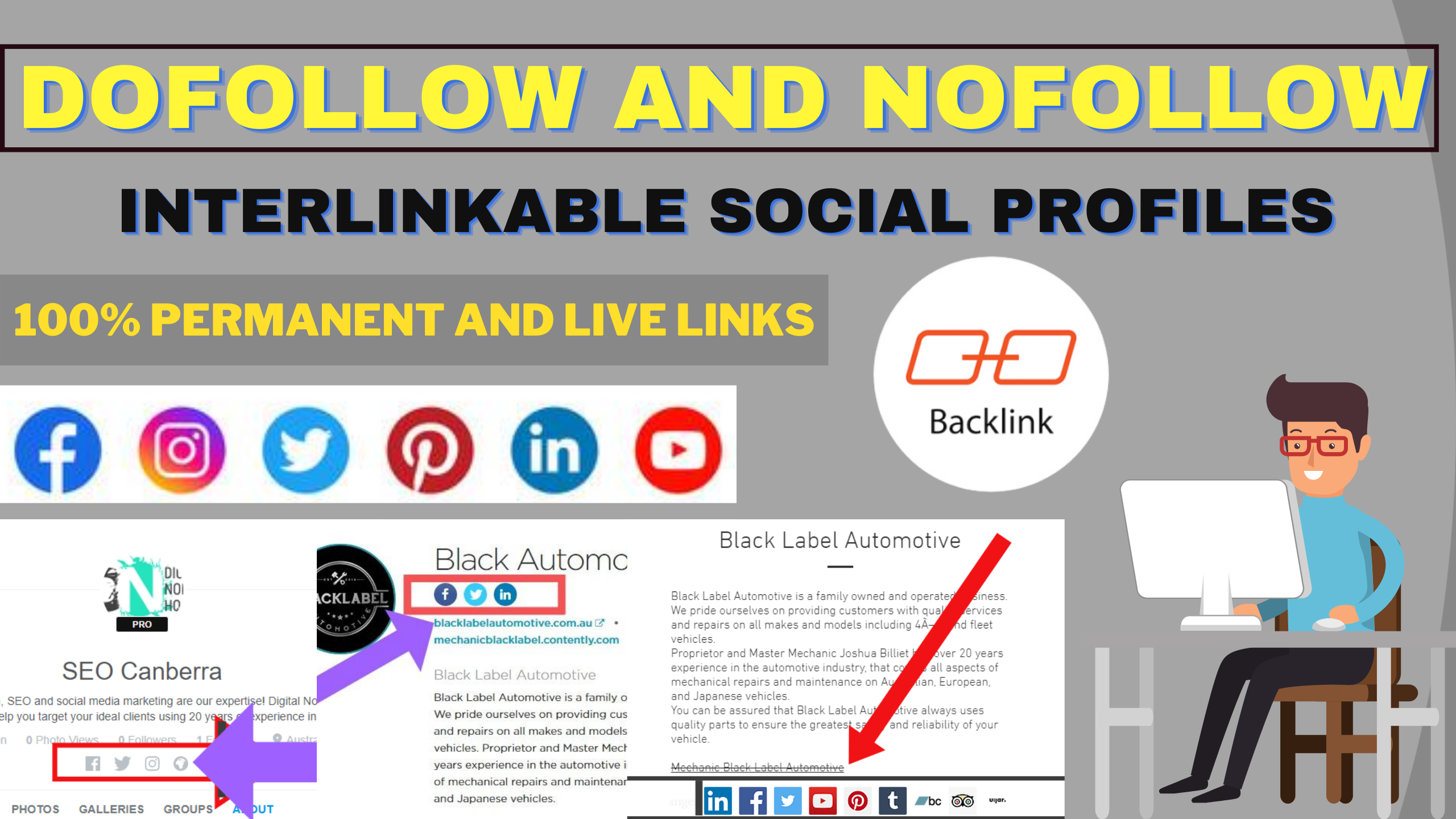 I will create 25 dofollow interlinkable social profiles