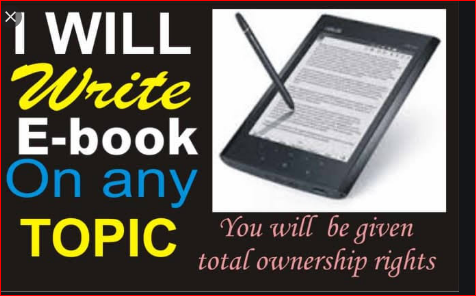 I will write an attractive ebook for you