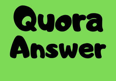 Promote your website 10 High quality Quora Answer with backlink
