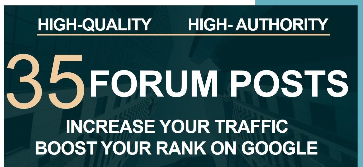 Build Manual 35 Forum Posts on High DA sites