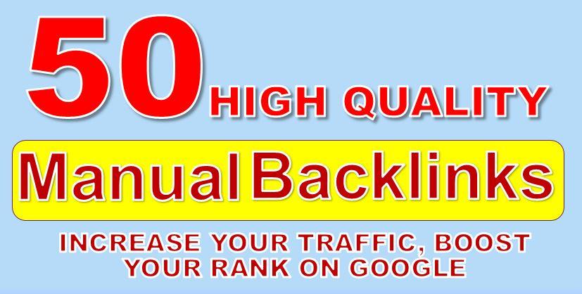 Built Manual 50 DA 90 High Quality Backlinks