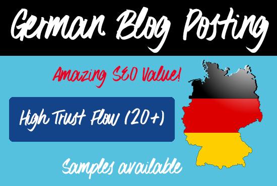 German Blog Posts with 20+ Trust Factor