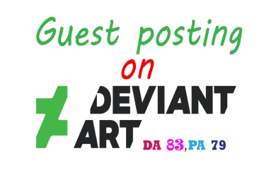 I will publish or write and publish the guest post strong backlink on Deviant art. com