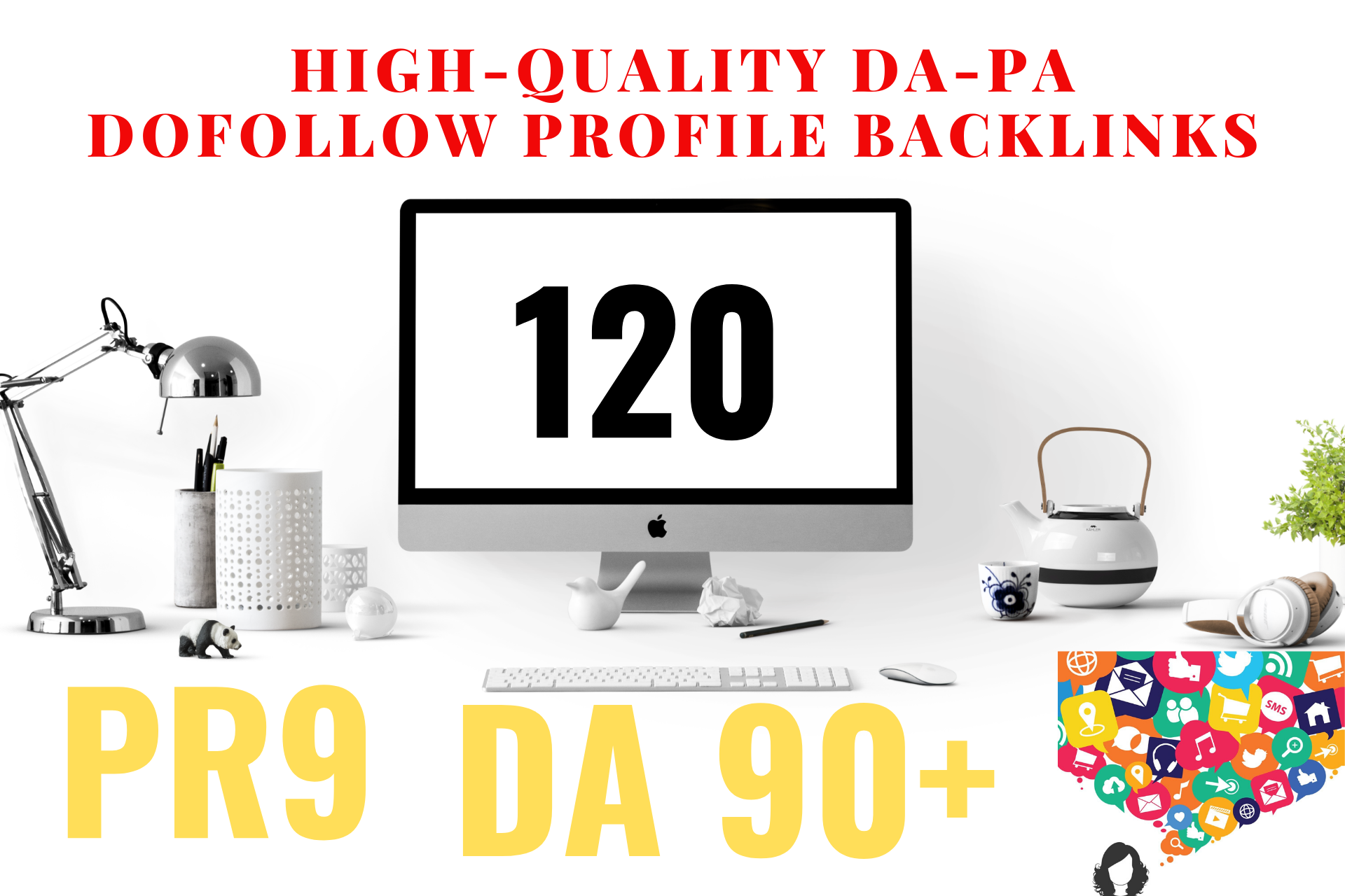 give you 120 High-quality DA-PA Dofollow Profile Backlinks.