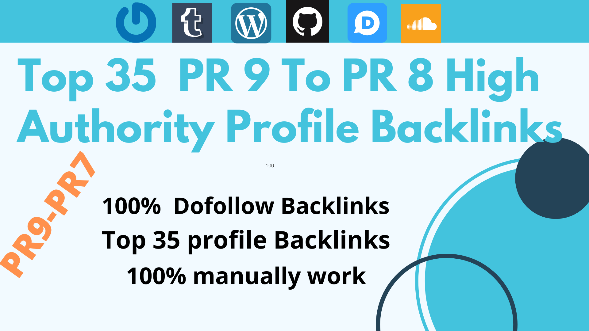Give you Top 35 high authority do-follow PR9-PR7 profile backlinks