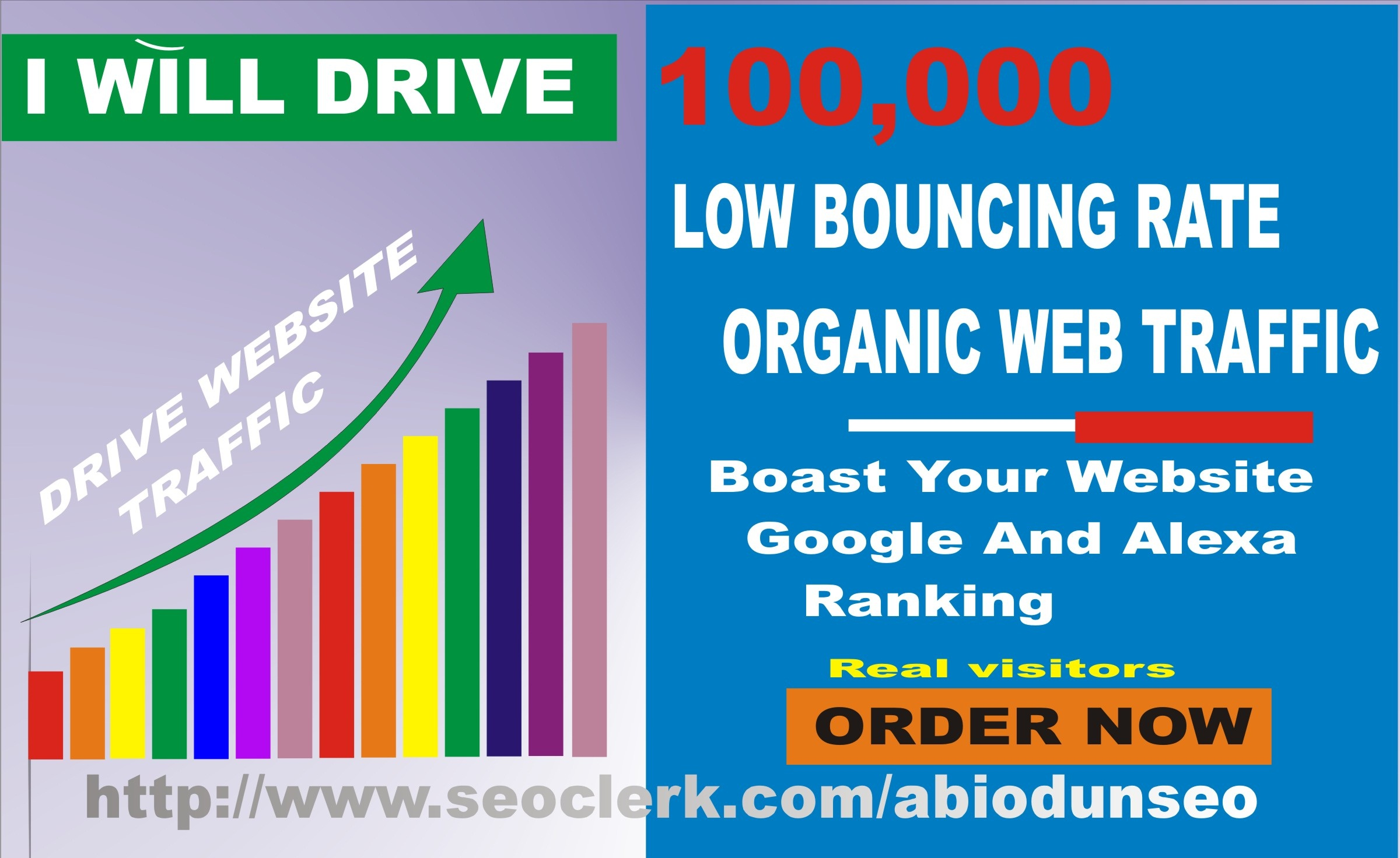 Get 50,000 keywords targeted web traffic to your website/blog