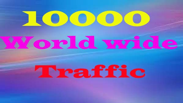 10000+ Traffic Worldwide for Your Website