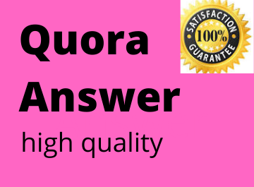 Promote your website 10 high quality Quora Answer with website backlink