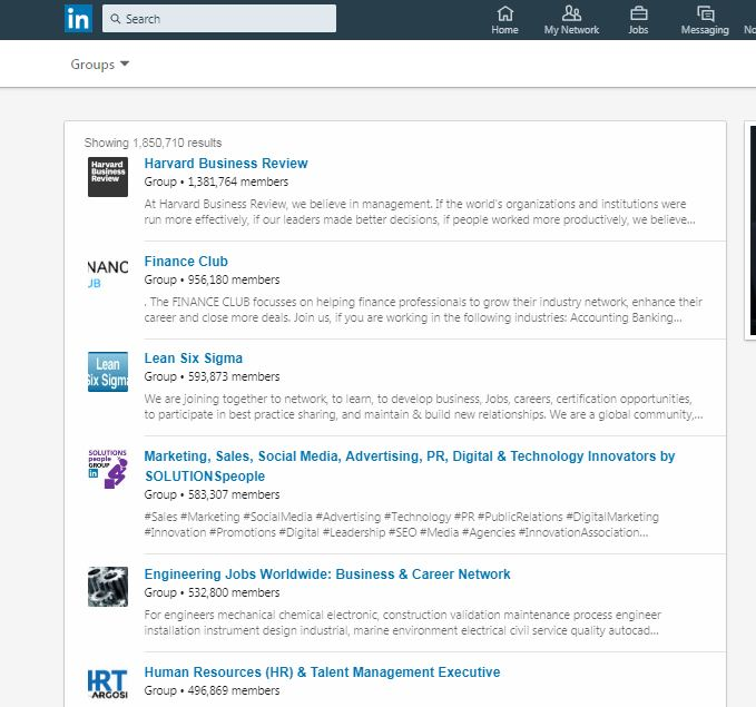 Post your info in LinkedIn group