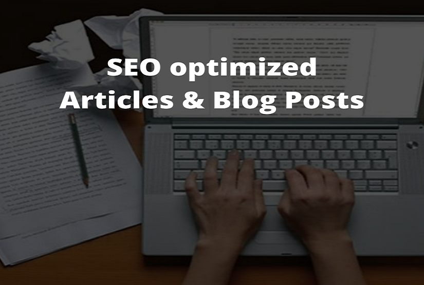 I will write SEO optimized articles and blog posts for you