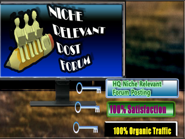 i can do 8 Niche relevant Forum Post for your websites