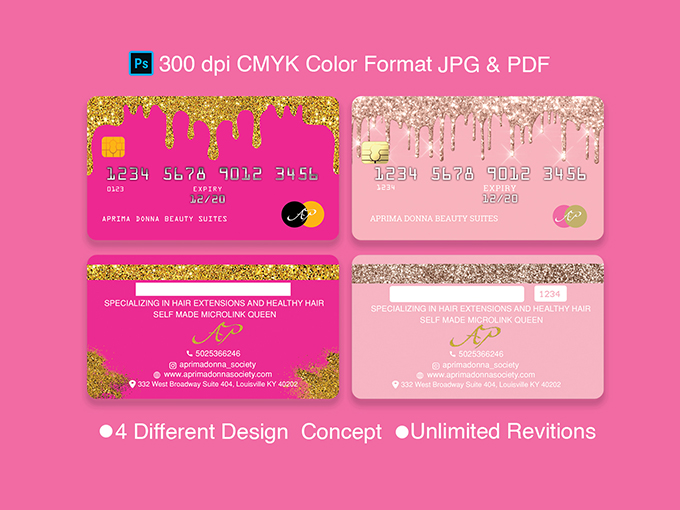 Faction & Beauty Business Card Design